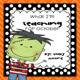 What I'm teaching in October Pack { CCSS } ELA, Math