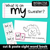 """Interactive Sight Word Reader """"What is on my Sweater?"""""""