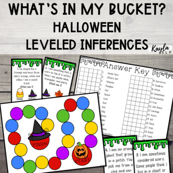 What's In My Bucket? {Halloween Inferencing}