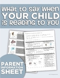 """What to Say When Your Child is Reading to You"" Parent Handout"