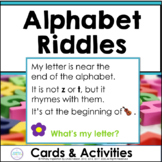 Inference, Key Details, and Letter Knowledge ~  Alphabet Riddles