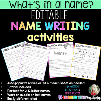 What's in a name? Editable name activities and name plates