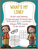 What's my line? task cards:  Writing the equation of a lin