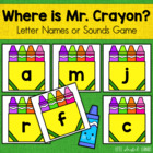 Where Is Mr. Crayon?  Letter Name & Letter Sound Identific