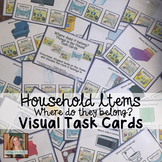 Where does it belong? Household Visual Task Cards for Spec