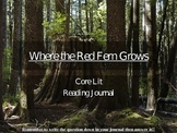 Where the Red Fern Grows Reading Journal Responses and Activities