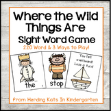 """""""Where the Wild Things Are"""" Themed  Sight Word Game (Dolch"""