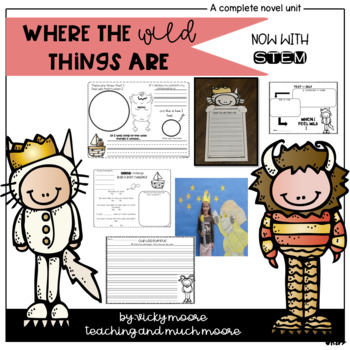 Where the Wild Things Are { literacy/math/art/writing/snac