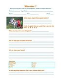 Who Am I? - personal information sheet survey homeroom cum