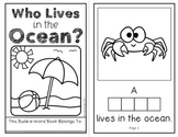 Who Lives in the Ocean?  (An Interactive Build-A-Word Book