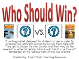 Who Should Win? Writing Packet--Comparing Two Animals in a