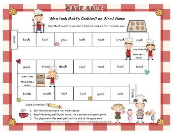 Who Took Matt's Cookies? /oo/ Word Game RF.1.3, RF.2.3