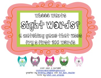 Whooo Wants Sight Words?