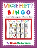 Whose Feet? BINGO {Inference Skills. Receptive and Express