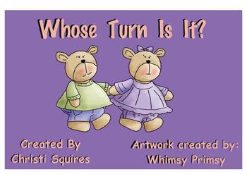 Whose Turn Is It? Bears Theme Overlays Classroom Managemen
