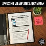 "Argumentative Nonfiction Essay: ""Why Grammar?"" Mini-Unit"