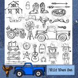 Wild West - Country life Clip Art - Western - Cowboy