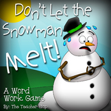 Winter Activity:  Don't Let the Snowman Melt!