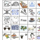 Winter Bingo game for preschool or elementary school