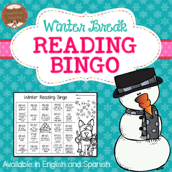 Winter Break Reading Bingo