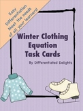Winter Clothing Equation Task Cards