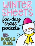 Winter Dry Erase Pocket Math Sheets Printables