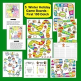 Winter FREEBIE: 5 Sight Words Game Boards - First 100 Dolch