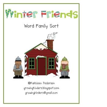 Winter Friends Word Family Sort