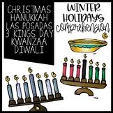 Winter Holidays Common Core booklet Christmas Kwanzaa Hanu