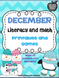 Winter Literacy and Math Centers-Based on Common Core Standards