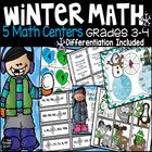 Winter Math Centers Grades 3-4