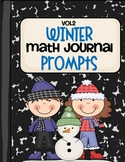 Winter Math Journal  Prompts- Vol. 2
