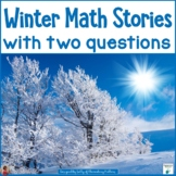 Winter Math Stories With 2 Questions