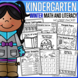 Winter Math and Literacy Packet NO PREP (Kindergarten)