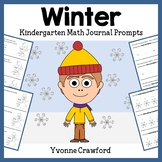 Winter Math Journal Prompts (kindergarten) - Common Core