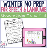 Winter NO PREP Speech & Language Activities!