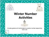 Winter Number Sequencing Activities