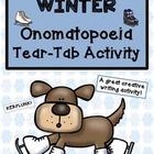 Winter Onomatopoeia Tear-Tab Creative Writing Activity