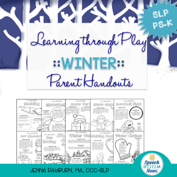 Winter Preschool Speech and Language Packet: Learning Through Play