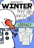 Winter Print & Do ~ Literacy Printables