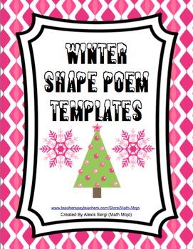 Winter Shape Poems
