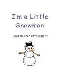 Winter / Snowman Preschool Song- FUN!