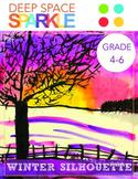 Winter Tree Silhouette Art Lesson