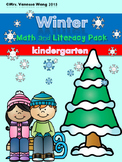 Winter math and literacy pack - Kindergarten
