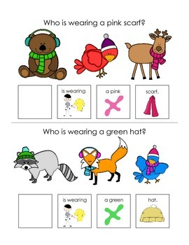 "Winter ""wh"" Questions Interactive Books"