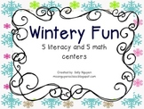 Wintery Fun Math and Literacy Centers