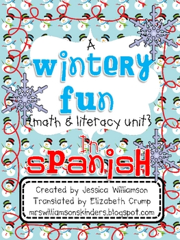 Wintery Fun literacy and math unit in SPANISH