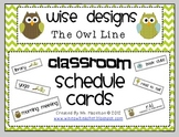 [Wise Designs] Owl Classroom Schedule Cards
