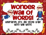 Wonder Wall of Words! {Superhero Themed Word Wall Cards}