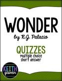 Wonder by R.J. Palacio:  22 Quizzes